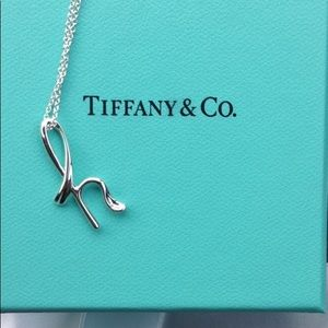 """Tiffany & Co. """"h"""" necklace!"""
